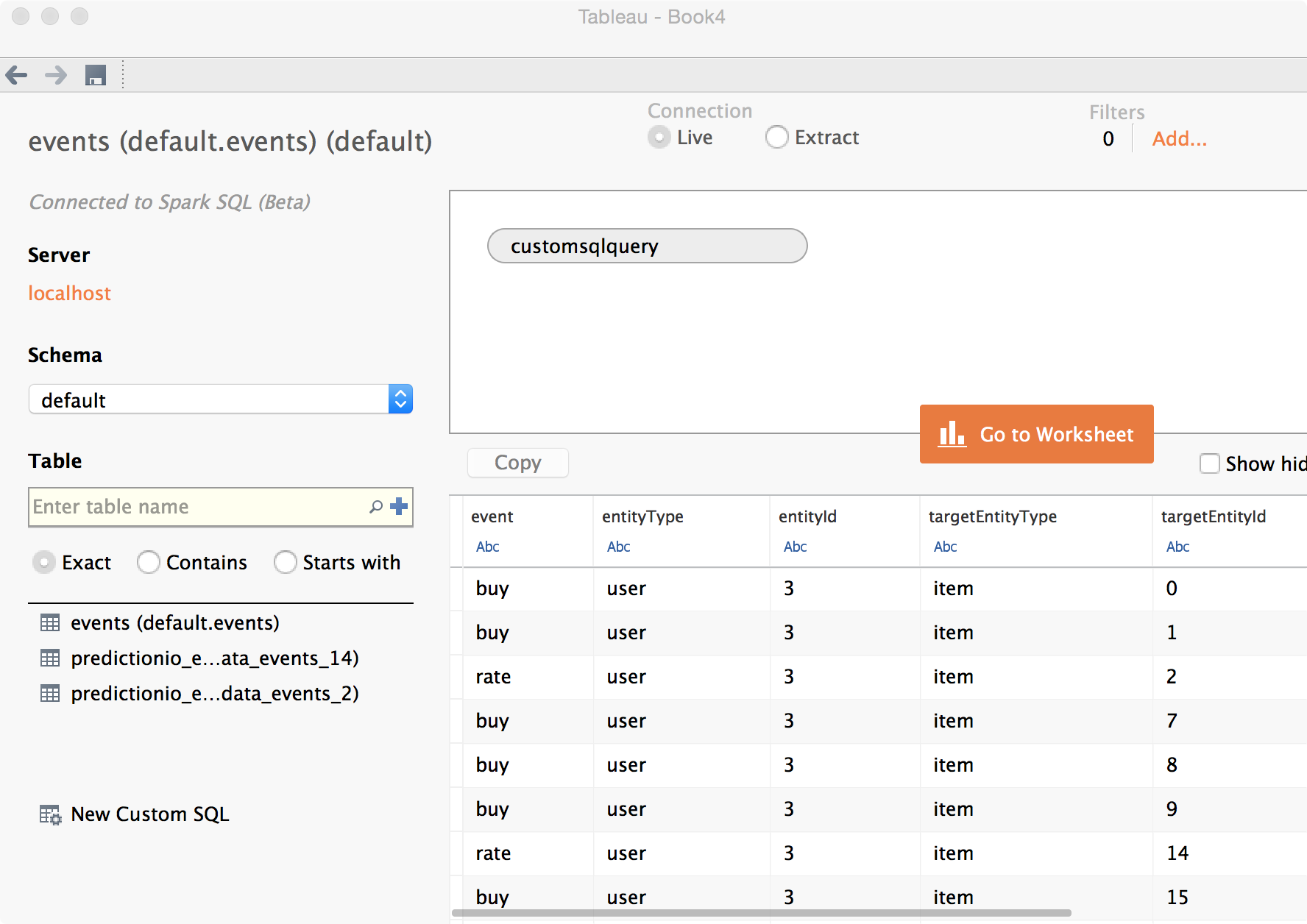 Setting up Tableau